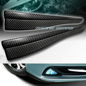 283mm X 50 5mm Carbon Style Bumper Lip Corner Side Scrach Protector Strip Guard