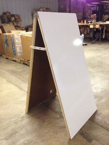 Easel Sidewalk Sign White Board Double Sided Message Display 24 X 48 Sale