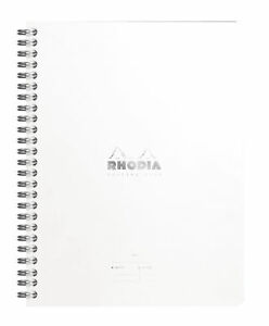 Rhodia Wiredbound Notebook Ice Lined Meeting Book A5 6 5 X 8 25 New