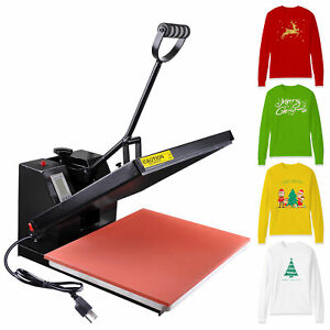16 x20 Heat Platen Press Machine T shirt Digital Sublimation Transfer Lcd Timer