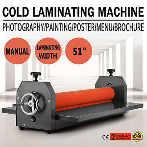 Manual Cold Laminator Laminating Machine 51in 1300mm