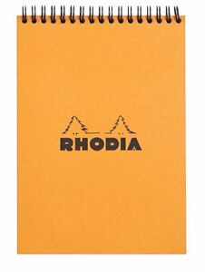 Rhodia Wirebound Notebook Orange Graph 80 Sheets 6 X 8 25 New R16500