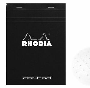 Rhodia Dot Pad Black Matrice Points 5mm 80 Sheets 3 375 X 4 75 R12559