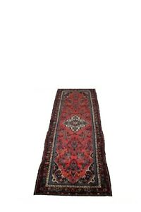 Stunning Runner Semi Antique Hamedan Persian Rug Oriental Area Carpet 3 7x10 9
