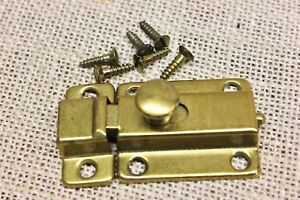 Cabinet Cupboard Latch 2 1 4 Catch Vintage Brass On Tin Usa Made Old Stock