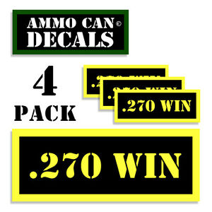 270 WIN Ammo Can 4x Labels Ammunition Case 3