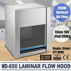 Vd 650 110v Ac Laminar Flow Hood Clean Bench Medicine Instrument Adjustable
