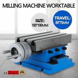 Milling Machine Worktable Cross Slide Table 4 x7 3 Bench Adjustable Vise Great