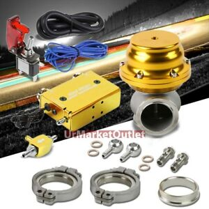 Gold Adjust Dual Stage Electronic Turbo Charger Boost Control external Wastegate