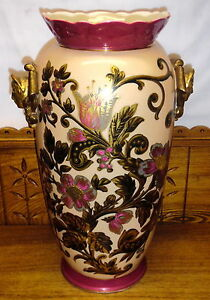 Large Antique Old Paris Porcelain Vase 18