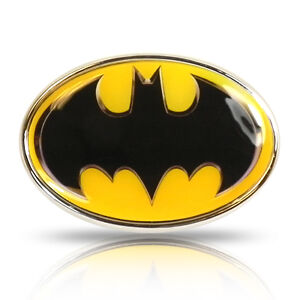 Batman Yellow Colored Metal Car Chrome Auto Emblem
