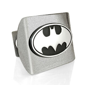 Batman Oval Emblem Silver Hitch Cover Solid Metal