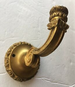 Antique Ornate Bronze Brass French Curtain Hook Tie Back Architectural Hardware