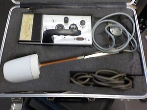 Narda 8616 Rf Radiation Meter Kit Probes 8631 And 8654 Case
