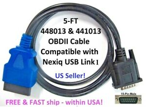 448013 441013 Obdii Adapter Cable For Nexiq Usb Link Rev 1 Isuzu Hino Car Truck