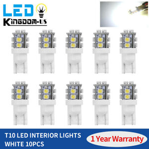 10x T10 W5w 2825 158 192 168 194 Led Bulb Dome Light Interior Amber Yellow 10smd