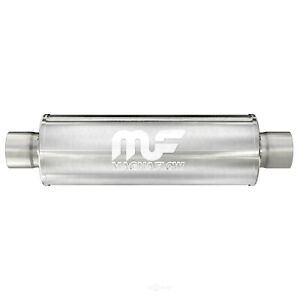 Magnaflow 12867 3 Inlet Outlet Resonator Round Muffler 20 Length 14 Body