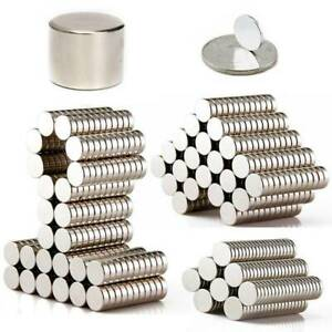 1 100pcs Disc Cylinder Strong N52 Magnets Rare Earth Neodymium Powerful Magnet
