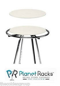 1 New 30 White Wood Topper Display For Round Clothes Rack rack Not Included