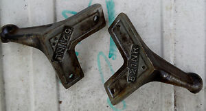 Koken Barber Chair Parts Back Rest Support Brackets No 521nr 521nl