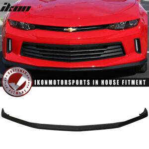 Fits 16 18 Chevy Camaro V6 2 Door Oe Style Front Bumper Lip Abs