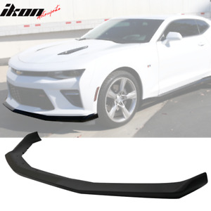 Fits 16 18 Chevy Camaro Ss V8 Oe Style Matte Black Front Bumper Spoiler Lip