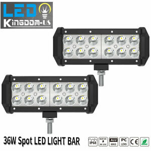 2x 7 Inch Led Pods Light Bar Spot Truck Offroad 4wd Suv Driving Fog Boat Light