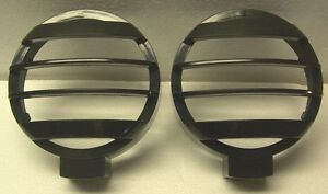 2 New 5 Inch Off road Stone rock Guards Light Brush Covers lamp Grille Guards