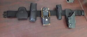 Police Duty Belt W Accessories Inc Holster Safariland Glock Bianchi Nylon Small