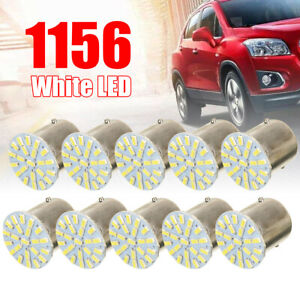 10pcs 24v 1156 Ba15s 1206 22smd Led Car Backup Reverse Turn Light Lamp White Hot
