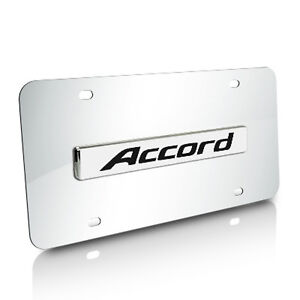 Honda Accord Name Chrome Stainless Steel Auto License Plate