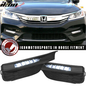 Fits 16 17 Accord Sedan Oe Style Led Fog Light Lamp Kit W Switch