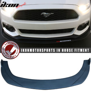Fits 15 17 Ford Mustang Front Bumper Lip Under Splitter Unpainted Pp