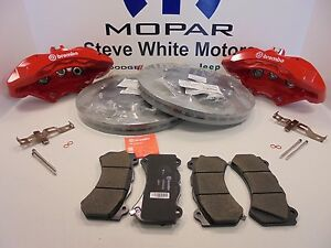 Challenger Charger Front Big Brake Kit Brembo Calipers Slotted Rotors Pads 6 Pot
