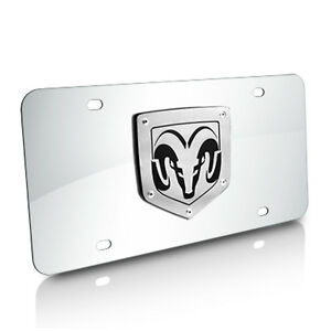 Dodge Ram 3d Laser Cut Logo Chrome Stainless Steel Auto License Plate