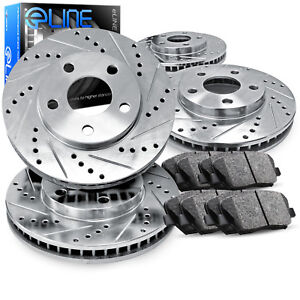 2012 2016 Ford Focus Full Kit Eline Drilled Slotted Brake Rotors