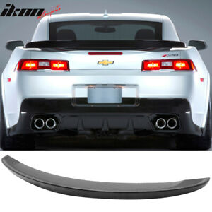 Fits 14 15 Chevy Camaro Flush Mount Oe Z28 Style High Rear Wing Trunk Spoiler