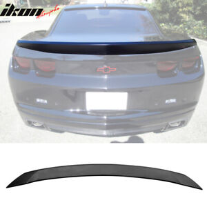 Fits 10 13 Chevrolet Camaro Zl1 Style Trunk Spoiler Wing Painted Matte Black Abs