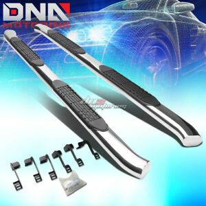 For 09 16 Dodge Ram Truck Crew Stainless 4 chrome Curved Oval Step Nerf Bar Kit