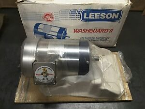 New Leeson 121350 00 Cz145t17wc11a Washguard Ii 1 5hp 1740rpm 3ph Electric Motor