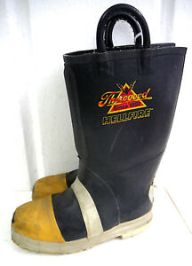 Mens Thorogood Hellfire Steel Toe Firefighter Fire Fighter Boots Size 8 Wide