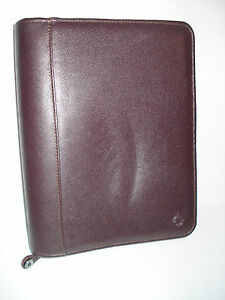 Franklin Covey 1 5 Planner Binder Burgundy Top Grain Leather
