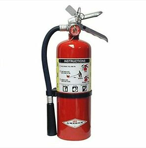 Fire Extinguisher Dry Chemical Class A B C Stainless Steel Construction 5 Pound