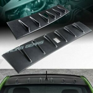 Carbon Look Rear Roof Shark Fin Spoiler Wing Fit 08 16 Mitsubishi Lancer Evo 10