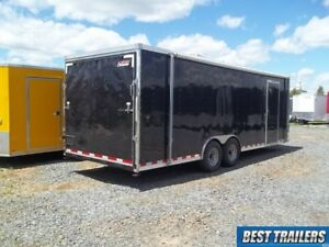 8 X 24 Race Ready Pace Enclosed Finished Carhauler Trailer Cargo Car Hauler 8x24