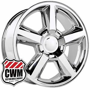 Oe Performance 131c 20 Inch Chevy Tahoe Ltz Wheels Chrome Rims 6 Lug Fit Chevy