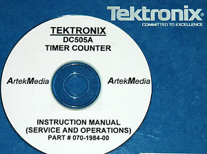 Tektronix Dc505a Counter Timer Operating Service Manual With Schermatics