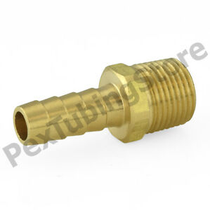 20 3 8 Hose Barb X 1 2 Male Threaded Brass Adapter Fittings oil water air