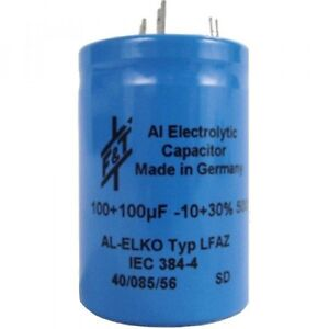 F t Multisection Can Electrolytic Capacitor 100 100 f 500 Vdc