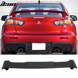 Fits 08 17 Mitsubishi Lancer Oe Factory Style Trunk Spoiler Unpainted Abs
